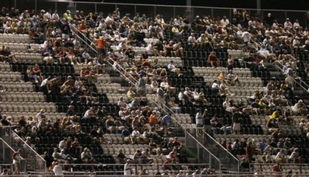Empty seats at Daytona